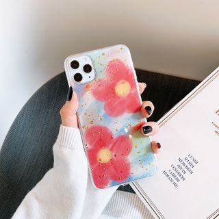 Drawnin - Flower Print Mobile Case - iPhone 7 / 7 Plus / 8 / 8 Plus / X/ XR / XS / XS MAX / 11 / 11 Pro / 11 Pro Max