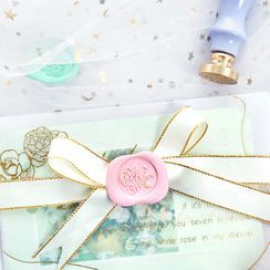 Cute Essentials - Set: Wax Seal Stamp + Wax + Candle