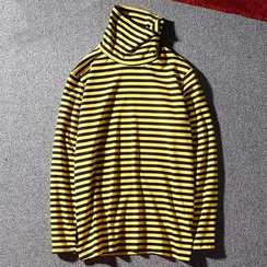 Rampo - Striped Turtleneck T-Shirt