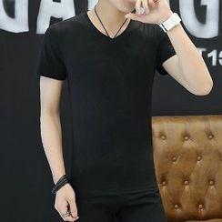 Romantica - Short-Sleeve Plain T-Shirt