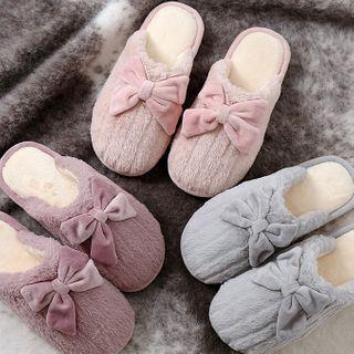 EMERY.V - Set Of 2: Couple Matching Fleece Home Slippers