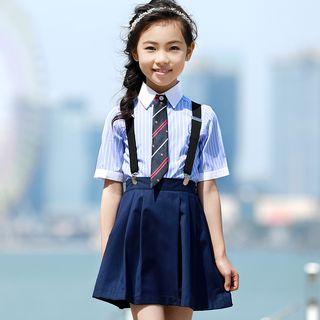 Snow Castle - Kids Shirt / Suspender Shorts / Tie / Suspender Skirt / Set