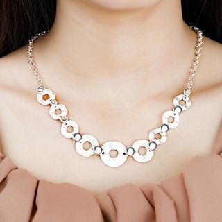 BELEC - Fashion Simple Geometric Round Necklace