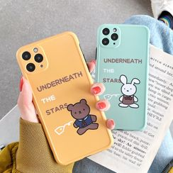 Mobby - Rabbit / Bear Print Phone Case - iPhone 11 Pro Max / 11 Pro / 11 / XS Max / XS / XR / X / 8 / 8 Plus / 7 / 7 Plus / 6s / 6s Plus