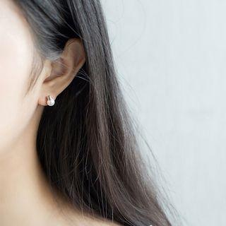 Jubby - 925纯银仿珍珠灯泡耳环