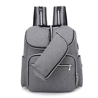 Golden Kelly - Set: Diaper Backpack + Insulated Bottle Pouch