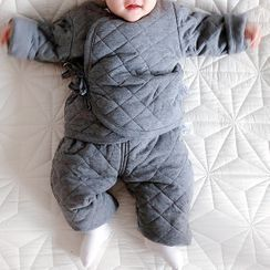 MOM Kiss - Baby Pajama Set: Quilted Top + Pants
