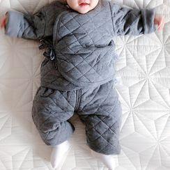 MOM Kiss - 婴儿家居服套装: 绗缝上衣 + 裤子