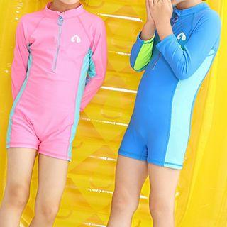 Roseate - Kids Set: One Piece Rash Guard + Swim Cap