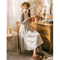 GOROKE - Tie-Side Long Pinafore Dress