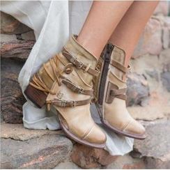 Carnival Beast - 飾帶粗跟短靴