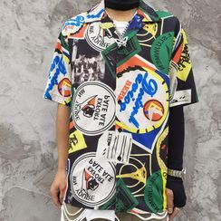 Oppa homme - Short-Sleeve Printed T-Shirt