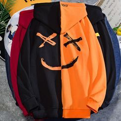 Rampo - Smiley Face Print Hoodie