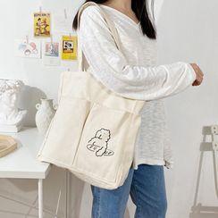 TangTangBags - Bear Print Canvas Shopper Bag