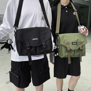 Mulgam - Canvas Flap Crossbody Bag / Chimpanzee Bag Charm