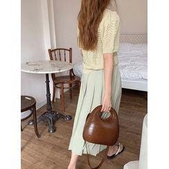 maybe-baby - Pleated Midi Skirt