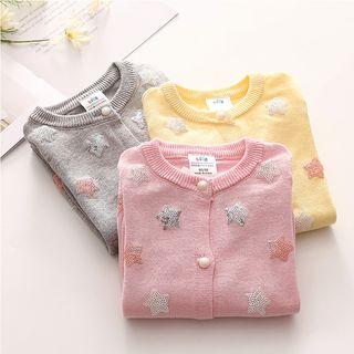 贝壳童装 - 小童星星图案开衫