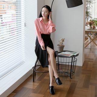 NAIN - Wrap-Front Midi H-Line Skirt
