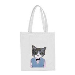 DUYU(ドゥユ) - Cat Printed Canvas Shopper Bag