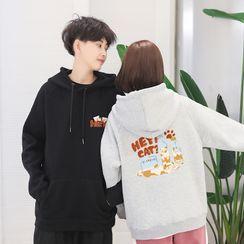 ATee Store - Couple Matching Print Sweatshirt / Hoodie