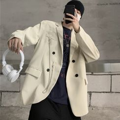 belleboy - Double-Breasted Chained Blazer
