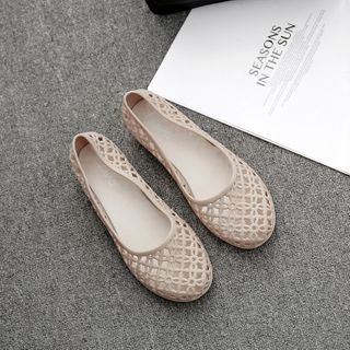 Chic Kingdom - Cut-Out Wedge Slip-Ons