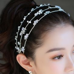Neostar - Rhinestone Layered Wedding Headband