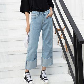 Denimot - Roll-Up Wide-Leg Jeans
