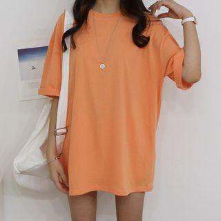 Seoul Fashion - Plain Loose-Fit T-Shirt