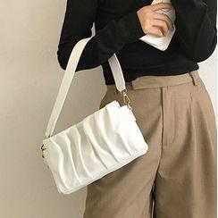 Kazaram - Plain Shirred Shoulder Bag