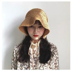 FROME - Lace-Up Straw Hat