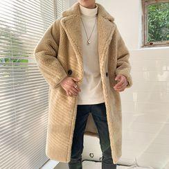 Blueforce - 仿羊毛双排扣长款大衣