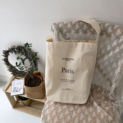 Milha - Lettering Canvas Tote Bag