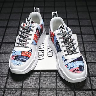 MARTUCCI - Lettering Platform Sneakers