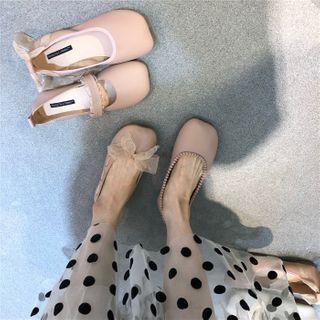 POPOW - 方形鞋头平跟鞋 (多款设计)
