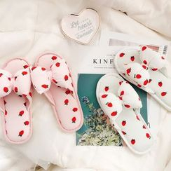 Ifish House - Strawberry Print Slippers / Cherry Print Slippers