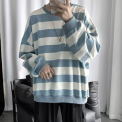 Soulcity - Couple Matching Striped Sweatshirt