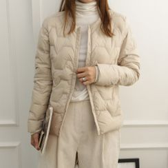 DANI LOVE - Round-Neck Duck-Down Padded Jacket