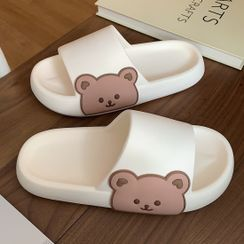 Honkizz - Bear Print Slippers