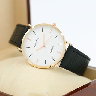 Epoca - Retro Couple Matching Faux Leather Strap Watch