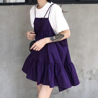 Amardeep - Spaghetti-Strap Tunic Dress
