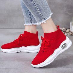 Max Dash - Platform High-Top Sock Sneakers