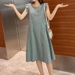 Gray House - Sleeveless Midi Shift Dress