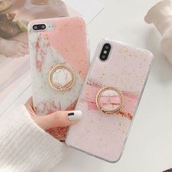 Aion - 金樹葉手機套連stand - iPhone XS Max / XS / XR / X / 8 / 8 Plus / 7 / 7 Plus / 6s / 6s Plus