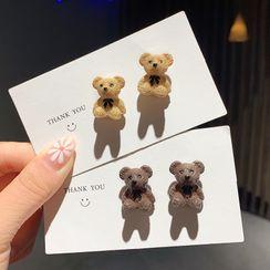 Gold Beam - Bear Earring