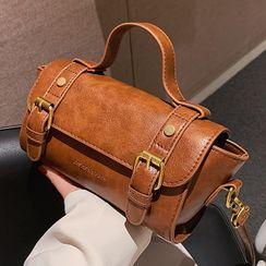 Bezac - Faux Leather Satchel Bag