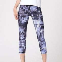 RITMO - Cropped Printed Sports Leggings