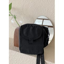 JOGUNSHOP - Snap-Button Mini Crossbody Bag