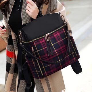 Beloved Bags - Plaid Lightweight Backpack