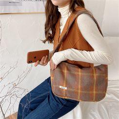 Eastin - Plaid Cotton Shoulder Bag